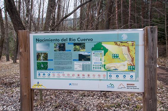 Cartel recorridos Nacimiento del rio Cuervo