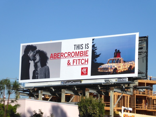 Abercrombie Fitch Holidays 2016 billboard
