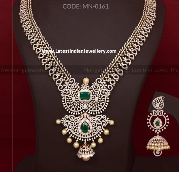 Sparkling Diamond Haar Jhumka
