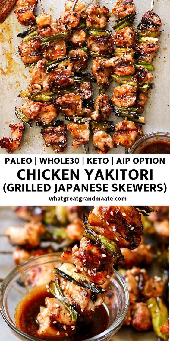 Paleo Chicken Yakitori Aka Japanese Chicken Skewers