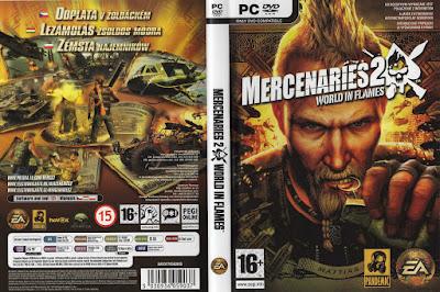 Jogo Mercenaries 2 World in Flames PC DVD Capa