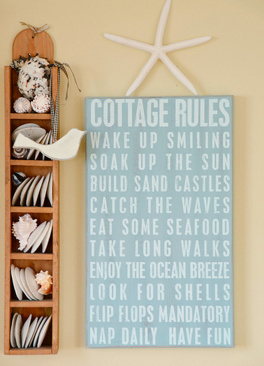 cottage rules sign