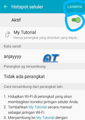 Cara Tethering Androit (hotspot selular) Ke Smartphone Maupun Laptop