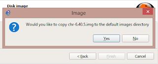 Notifikasi untuk menyalin file image disk