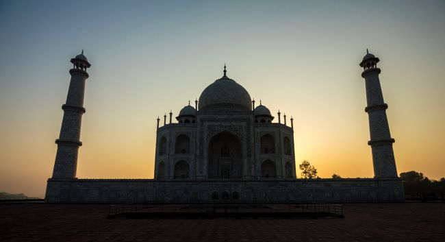 Sunrise and the Taj Mahal