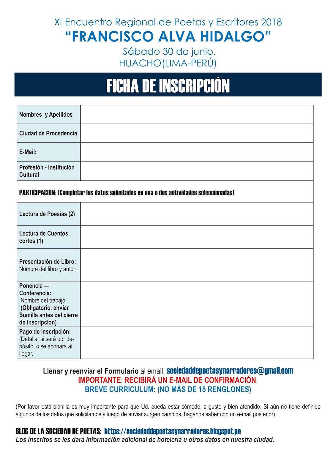 Sociedad de Poetas y Narradores: XI ENCUENTRO REGIONAL DE POETAS Y ...