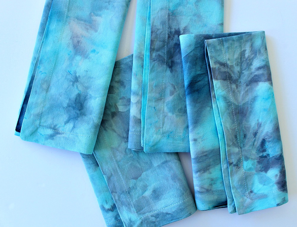 Fabric Dyed with Powdered Procion Dye and Ice