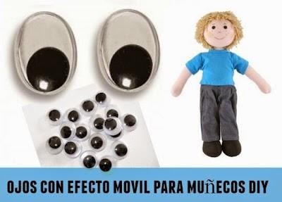 Como hacer Ojos con efecto móvil para Muñecos
