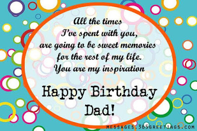 birthday message for dad