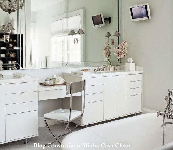 Construindo Minha Casa Clean Banheiros Femininos Com