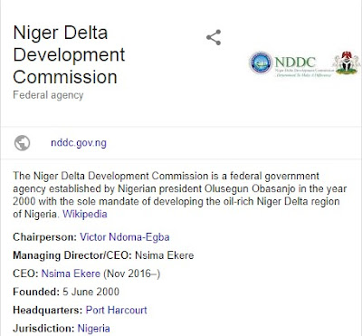 Register Here For Niger Delta Development Commission Recruitment 2018/2018