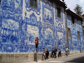 Portuguese ceramic tile serves as a beautiful, functional element on structures and homes.
