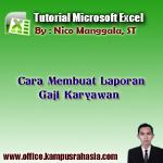 tutorial, cara, belajar, membuat, laporan, gaji, karyawan, rumus, microsoft, excel, pokok, tunjangan, pajak, terima, bersih, tabel