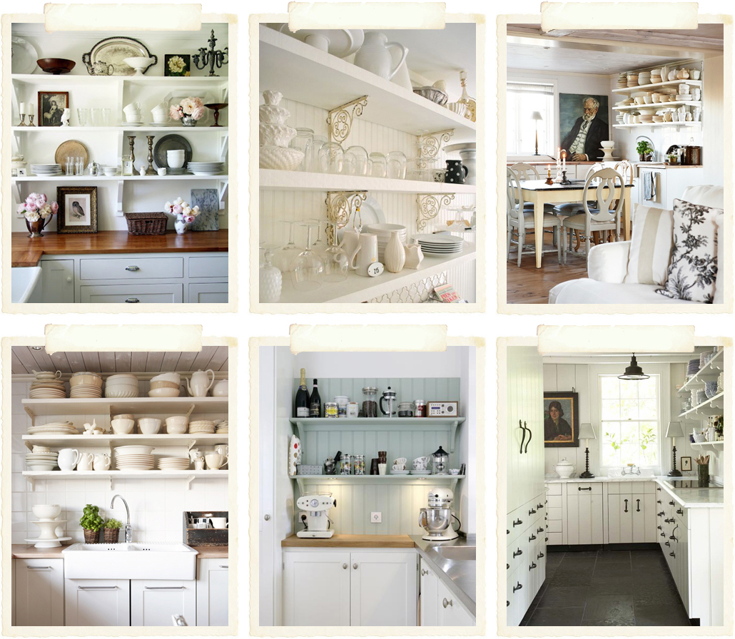 Ispirazioni in cucina shabby chic interiors for Mensole colorate ikea