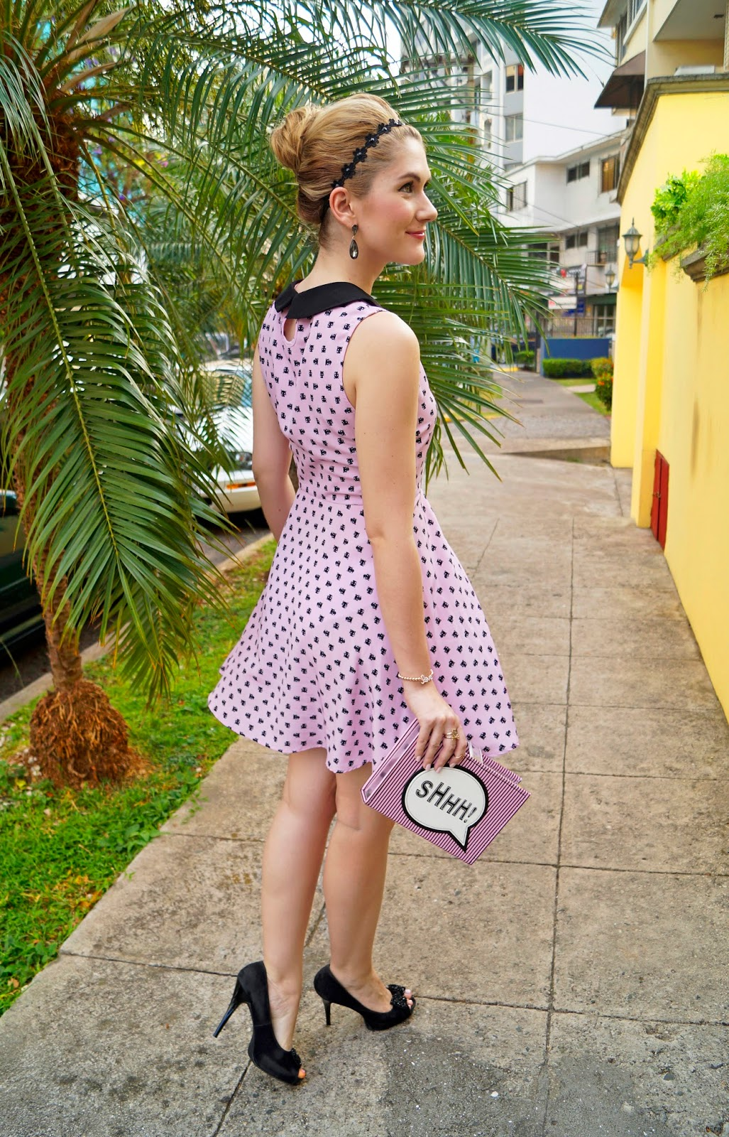 daily outfits blog, fashion blog, feminine outfit, pink dress outfit, forever 21 dress, asos clutch, book clutch, book clutch outfit, date outfit ideas