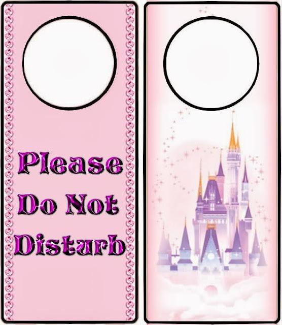 Disney Style Free Printable Door Hangers Oh My Fiesta! in english