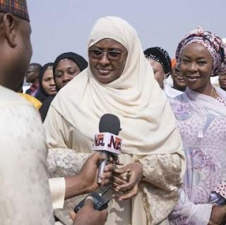 AIsha Buhari Returns From UK