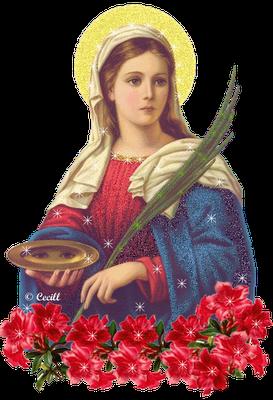 Resultado de imagem para imagem de santa luzia