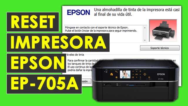 resetear almohadillas impresora Epson EP705A