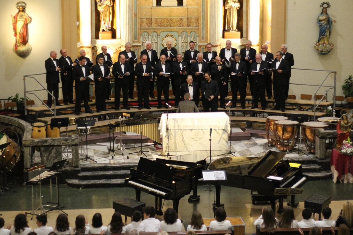 Coro de voces graves de la Schola Cantorum