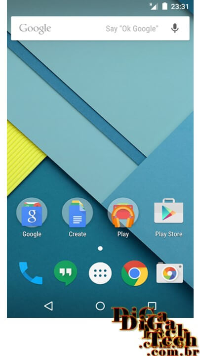 Screen shot Android Lollipop