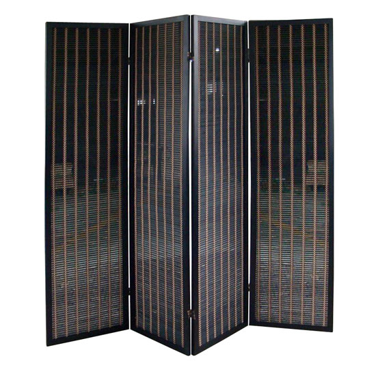 black wooden room dividers design ideas