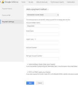 Cara Merubah Pembayaran Adsense Jadi Transfer Bank