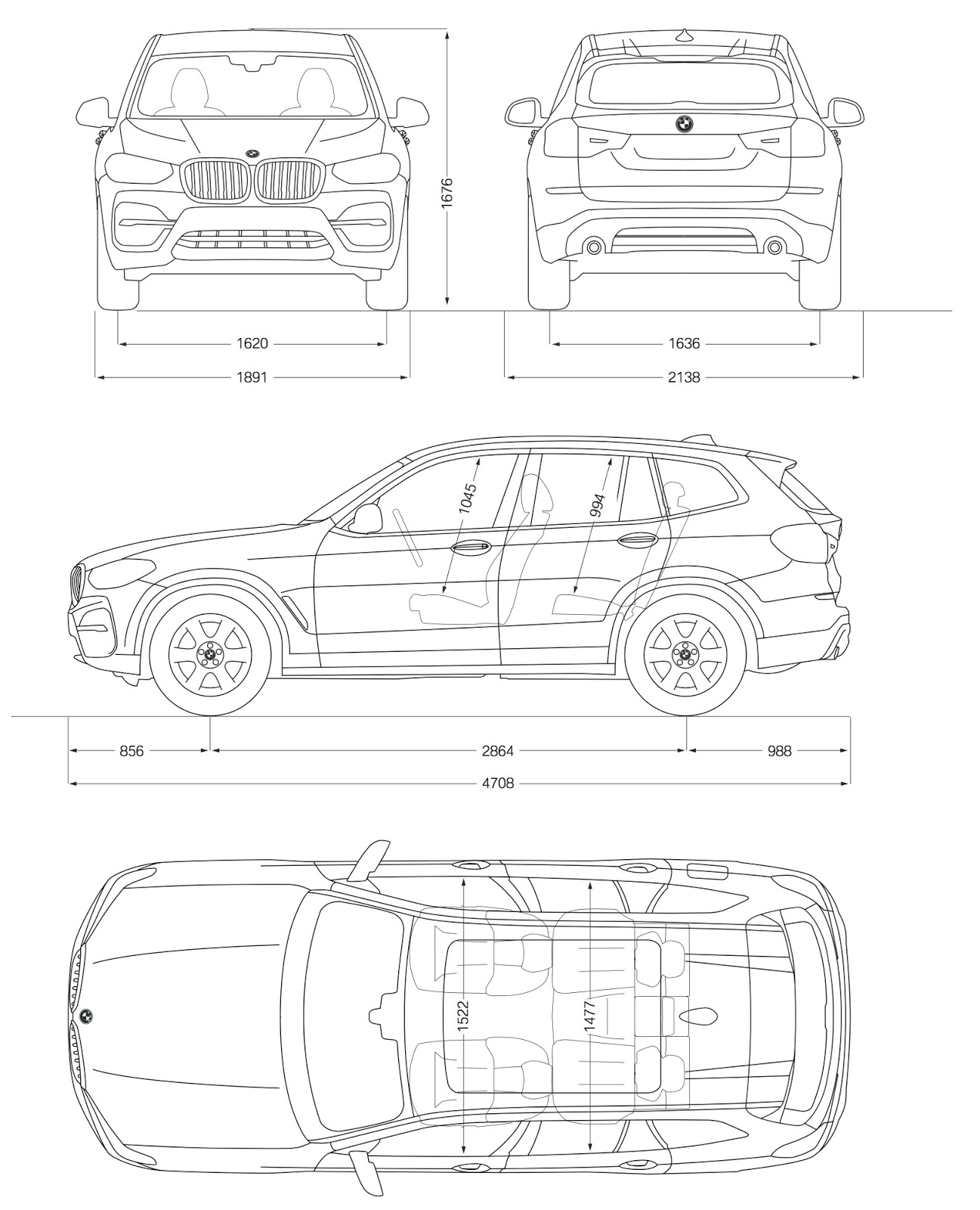 Dimensions Nissan Xtrail And Nissan Qashqai
