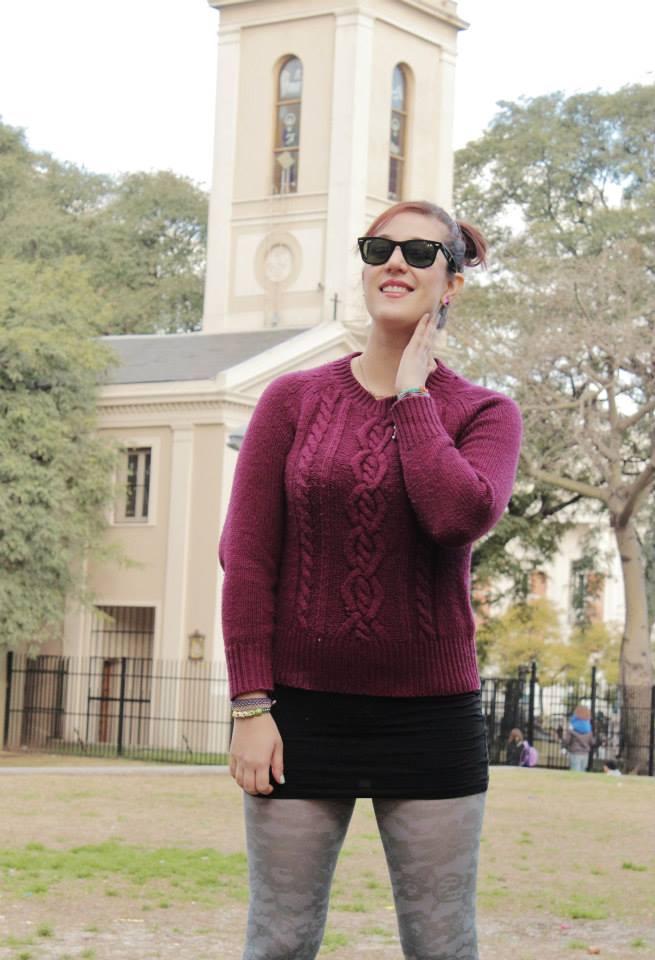 Como usar un Sweater Borgoña