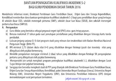 Beasiswa S2 Guru SMP Kemdikbud tahun 2016