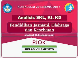 Standar  Kompetensi  Lulusan  adalah  kriteria mengenai  kualifikasi  kemampuan lulusan   Analisis SKL, KI, KD Pendidikan Jasmani, Olahraga dan Kesehatan (PJOK) Kelas VII SMP K13 Revisi 2017