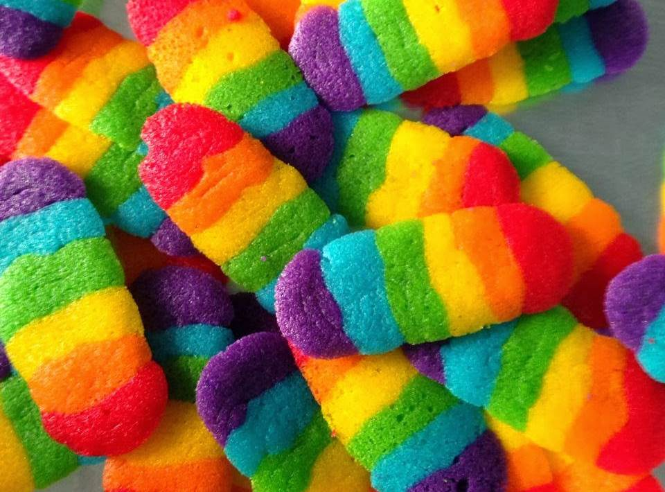 Resepi Biskut Lidah Kucing Rainbow Cookies Blogopsi