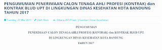 Lowongan Kerja Non PNS Terbaru Dinas Kesehatan Kota Bandung