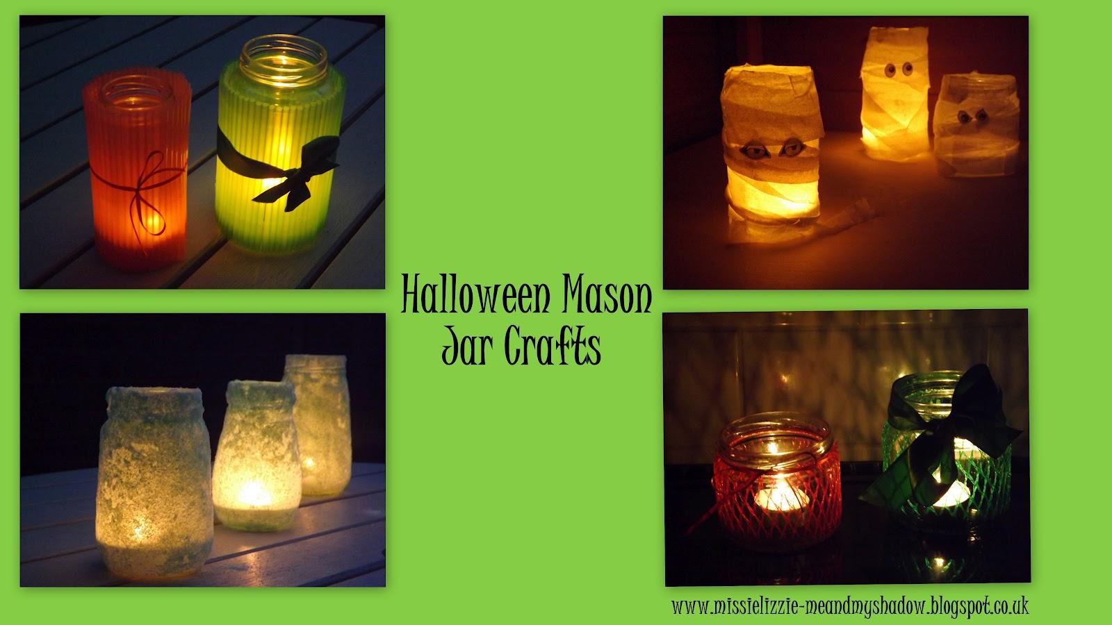 Me And My Shadow Halloween Mason Jar Crafts
