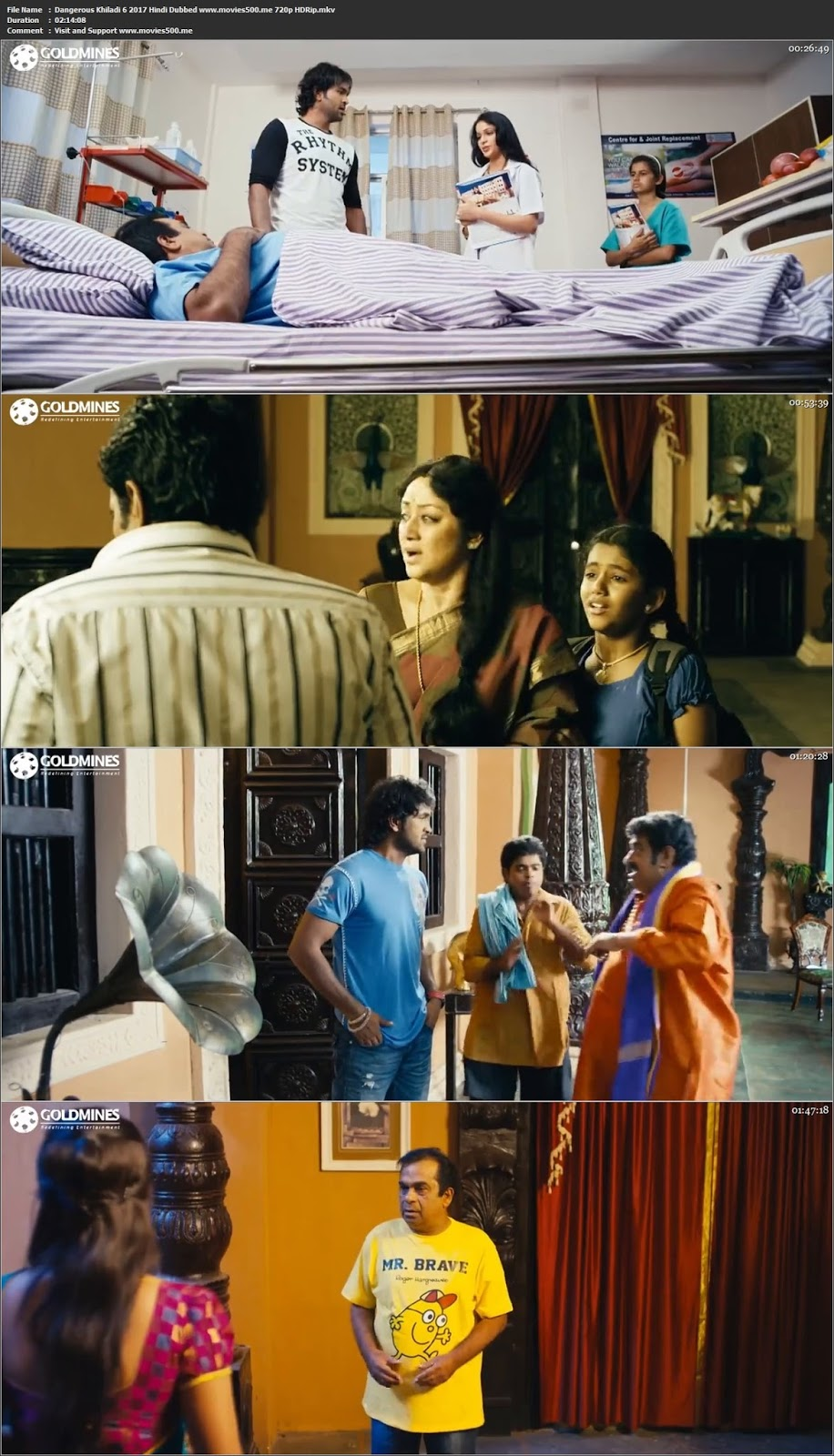 Dangerous Khiladi 6 2017 Hindi Dubbed Full Movie HDRip 720p at movies500.me