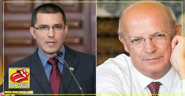 Jorge Arreaza no deja de meterse con Portugal por bloqueo de 1500 millones