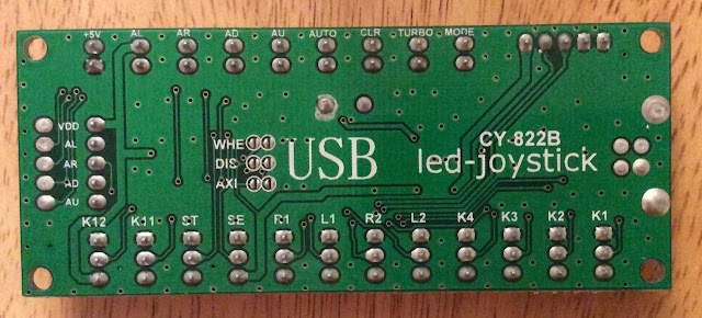 USB CY-822B led-joystick controller board - backside