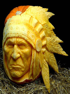 indian chiefs pumpkins carving ideas
