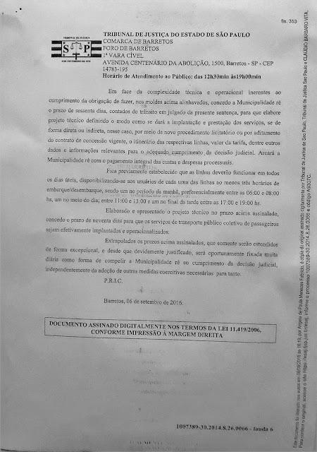 1007389-30.2014.8.26.0066 - Lauda 6 - Sentença Transportes Terrestres Zona Rural Barretos - Pag. 353