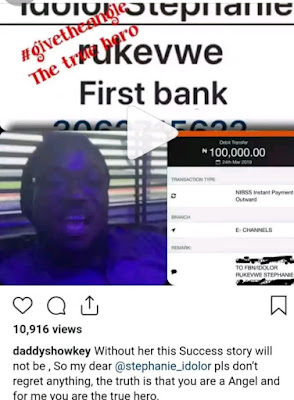 Daddy Showkey, Politicians Gives N1.2M  To Lady Who Recorded Success Viral Video