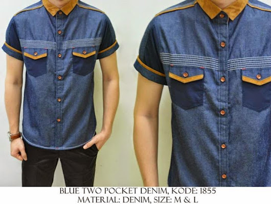 BLUE TWO POCKET DENIM KODE : 1855 IDR 110.000 | Welcome