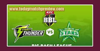 Today BBL 2018-19 3rd Match Prediction Melbourne Stars vs Sydney Thunder