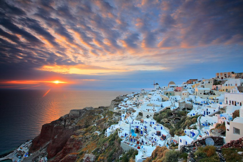 santorini view sunset cruise