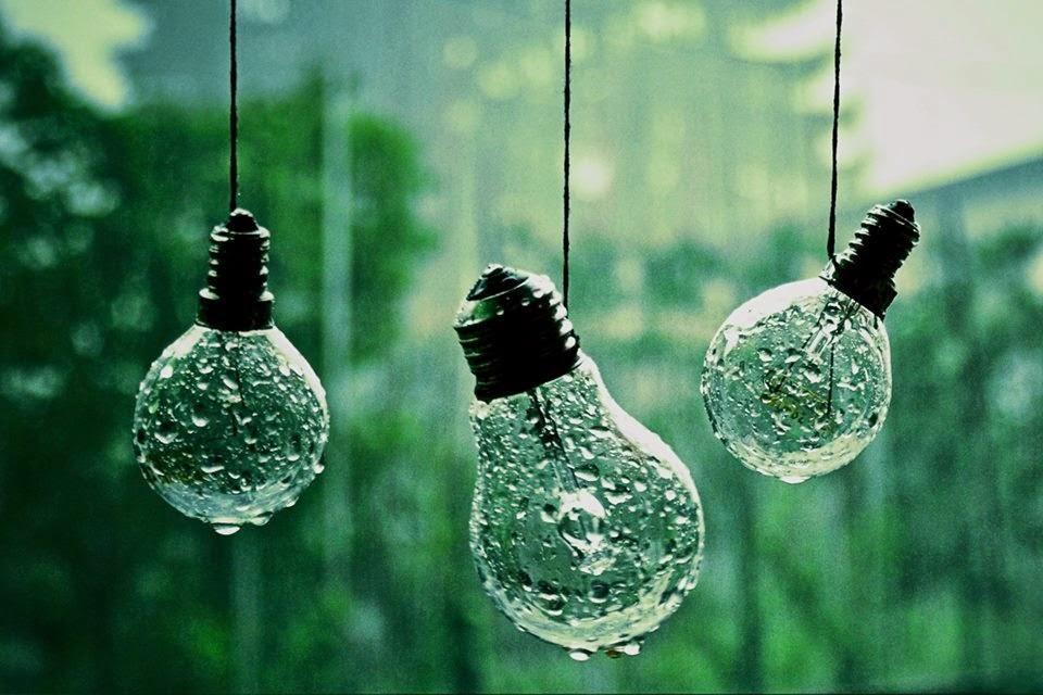 bombillas mojadas