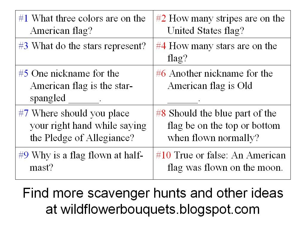 Human Scavenger Hunt Questions