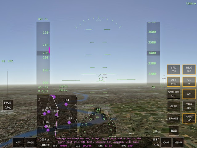 Inbound for landing Jeu simulation pilotage Infinite Flight