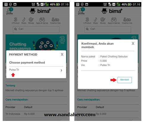 cara daftar paket chatting tri whatsapp 5000 sebulan