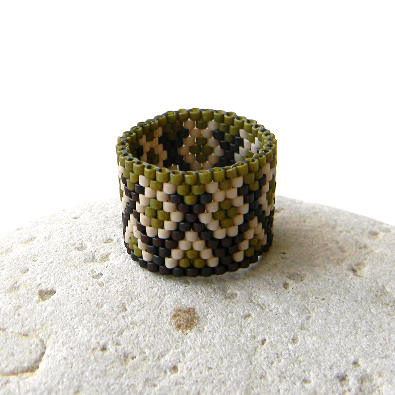 Кольца из бисера (Beaded rings) - peyote ring