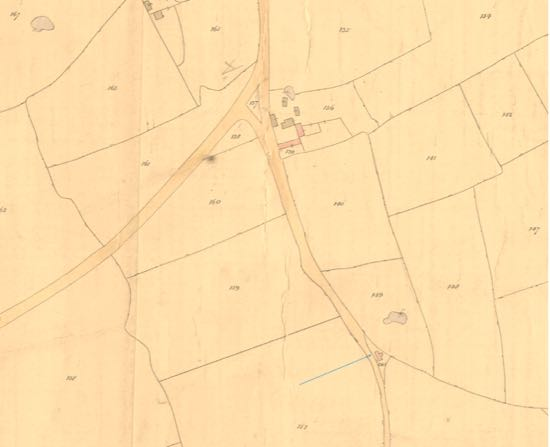 North Mimms 1844 tithe map  Image from the Peter Miller Collection