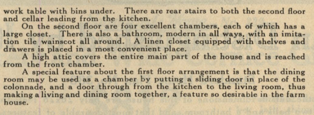 continuation of description of house from catalog page--Gordon-Van Tine Standard cut Home No. 115 1916 Standard Homes catalog